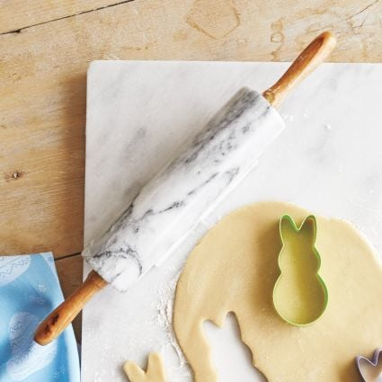 Sur La Table Marble Rolling Pin with Handles ($25)