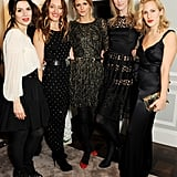 Lara Bohinc, Alice Temperley, Jacquetta Wheeler, Jade Parfitt, and Charlotte Dellal