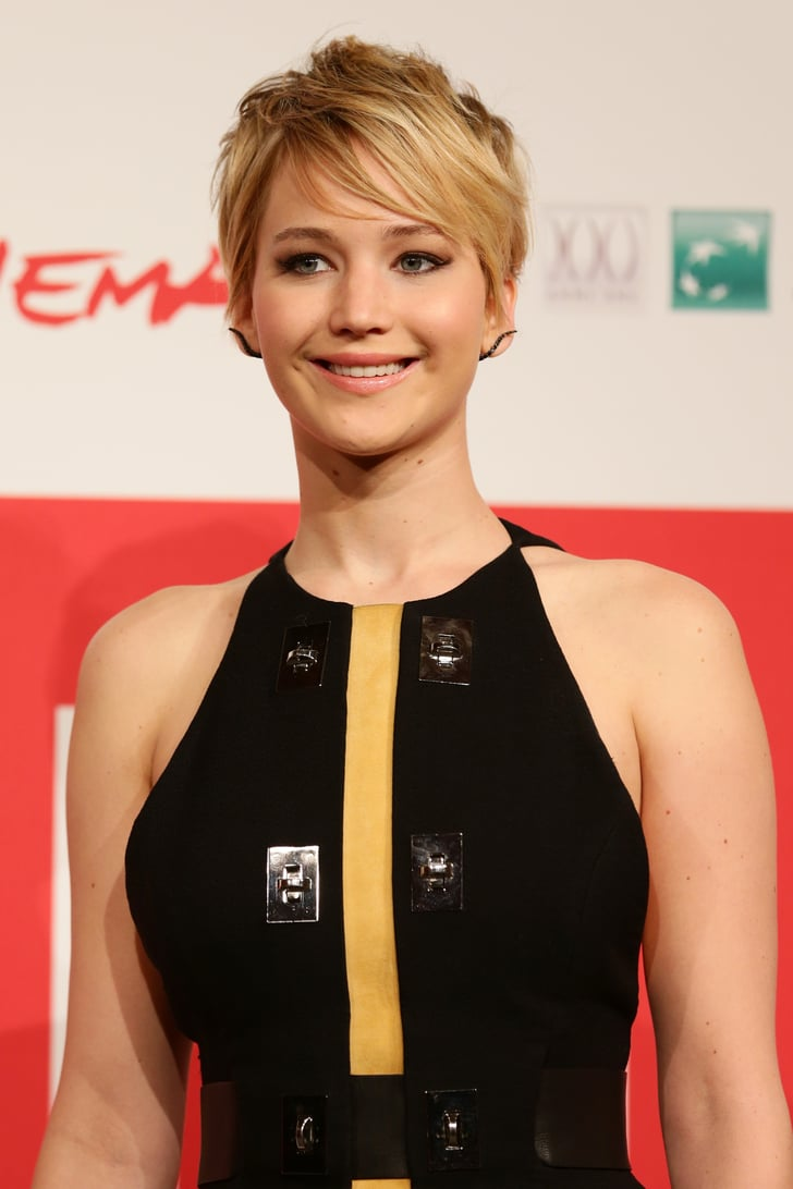Jennifer Lawrence With a Pixie Cut  What Is Jennifer Lawrence's Natural Hair Colour?  POPSUGAR