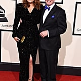 Meghan Trainor's dad, Gary, accompanied the singer to Grammys.