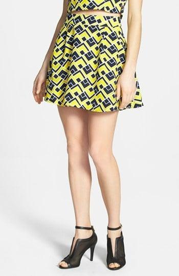 Joa Geometric Skater Skirt