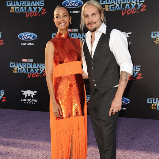 Zoe Saldana at Guardians of the Galaxy 2 Premiere April 2017