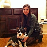 David Grant, president of PopSugar Studios, shared a snap of his two teenagers, Leo the Corgi and his youngest daughter, Kara.