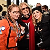 Pictured: Amy Schumer, Gloria Steinem, and Madonna