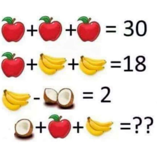 Facebook Brain Game With Fruit
