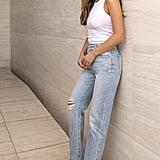 DL1961 x Marianna Hewitt Jerry Ripped High Waist Vintage Crop Straight Leg Jeans
