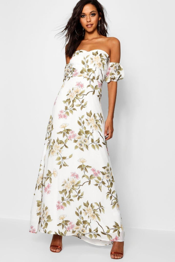 Satin maxi dress boohoo