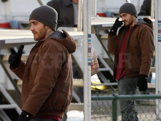Jake Gyllenhaal on the Set of Brothers in New Mexico