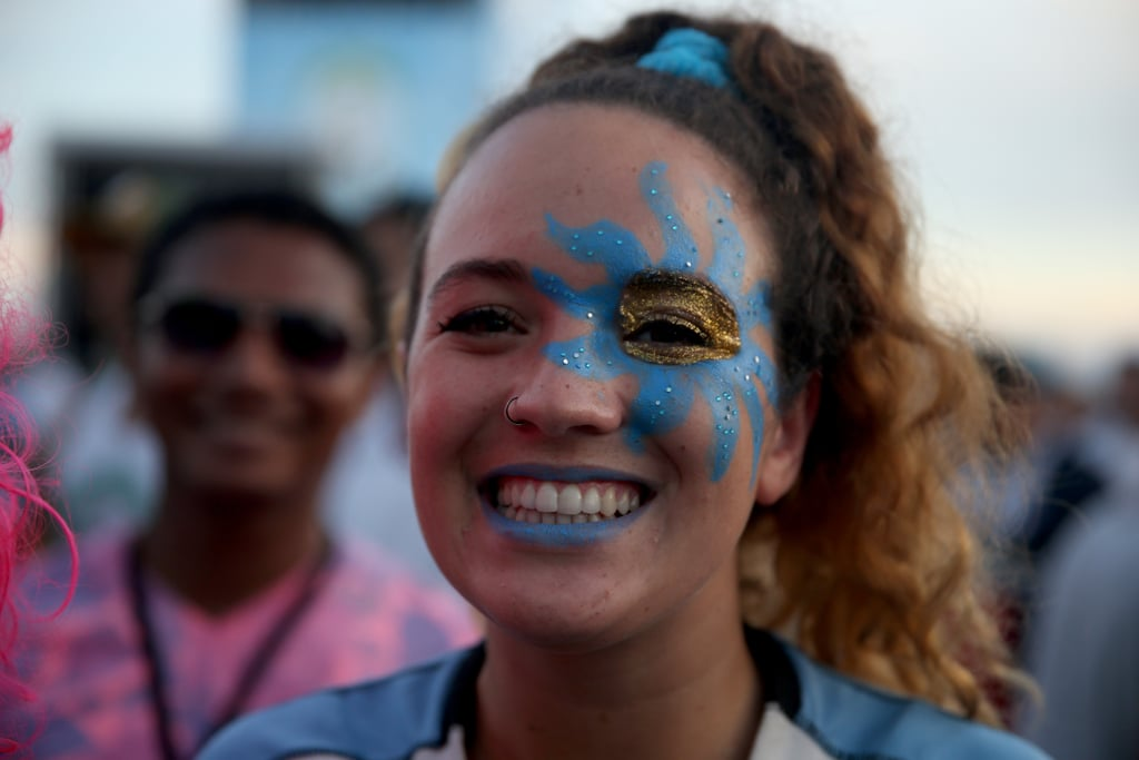 A Uruguay Football Fan Wore Face Paint To Watch Her Team Play