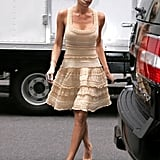 Victoria Beckham wears lovely Alaia on the streets of NYC.
