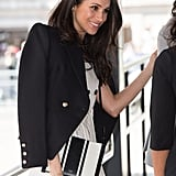 Meghan Markle Black and White Oroton Bag
