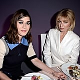 Lizzy Caplan ate dinner with Ari Graynor.
