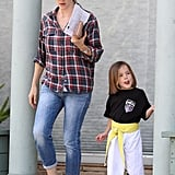 Jennifer Garner took her daughter Seraphina Affleck to karate class in LA in April 2013.
