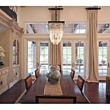 The formal dining room is the perfect place to host large Kardashian-Jenner family dinners.