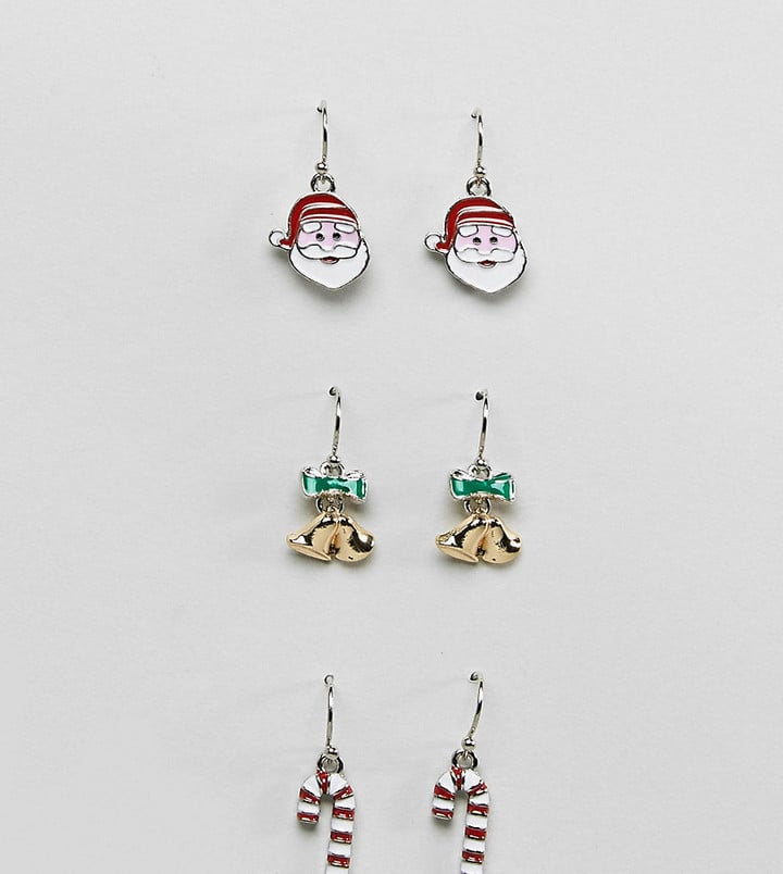 Asos holiday earrings cheap cute white elephant gifts popsugar asos holiday earrings solutioingenieria Images