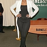 Jennifer Hudson looked flawless in a polished black and white ensemble.