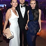 Virginie Ledoyen chatted and posed with Joshua Jackson and Diane Kruger at the Haiti Carnival in Cannes event.