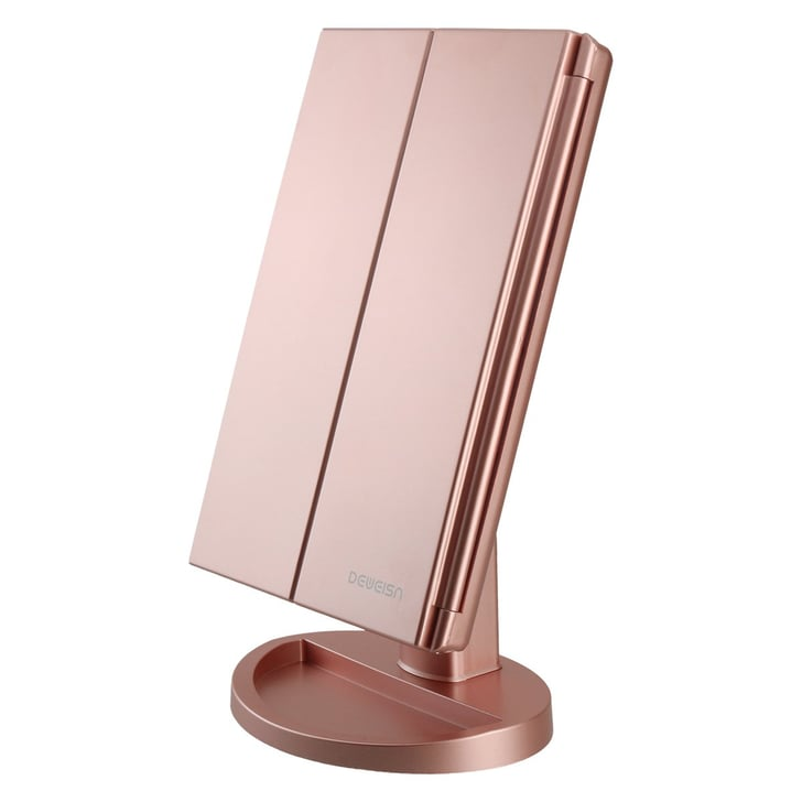 Deweisn Tri Fold Lighted Vanity Makeup Mirror Best