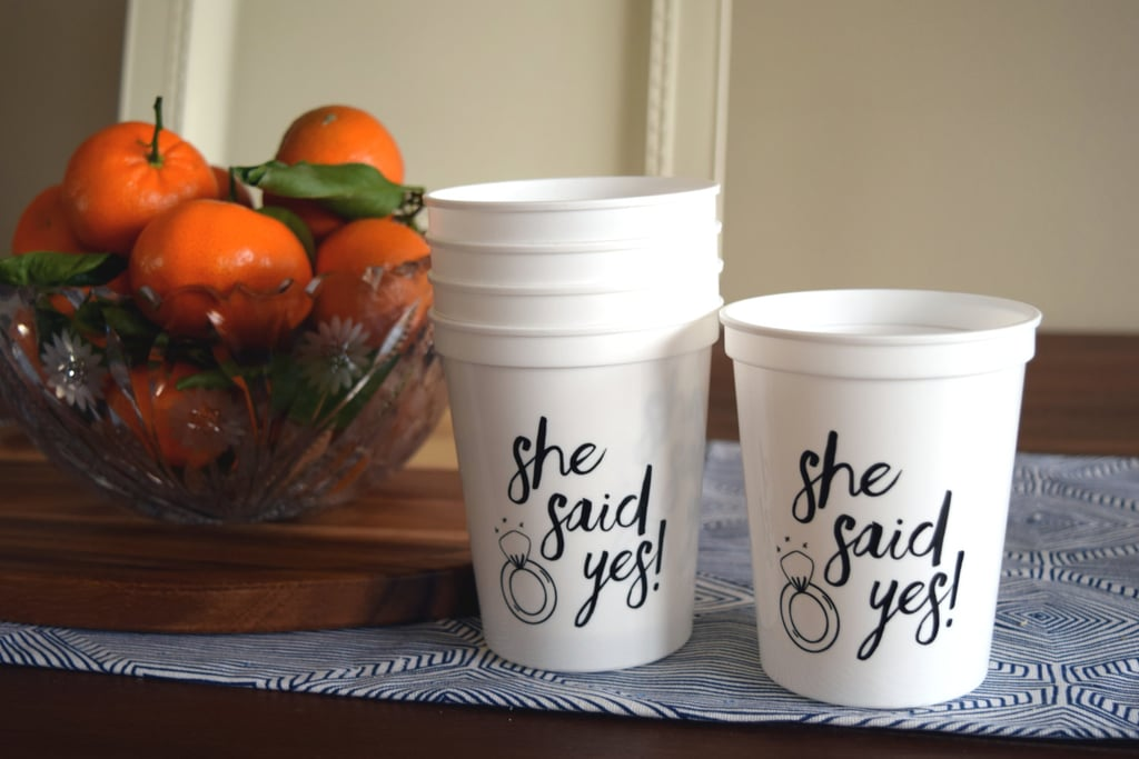 She Said Yes Cups
