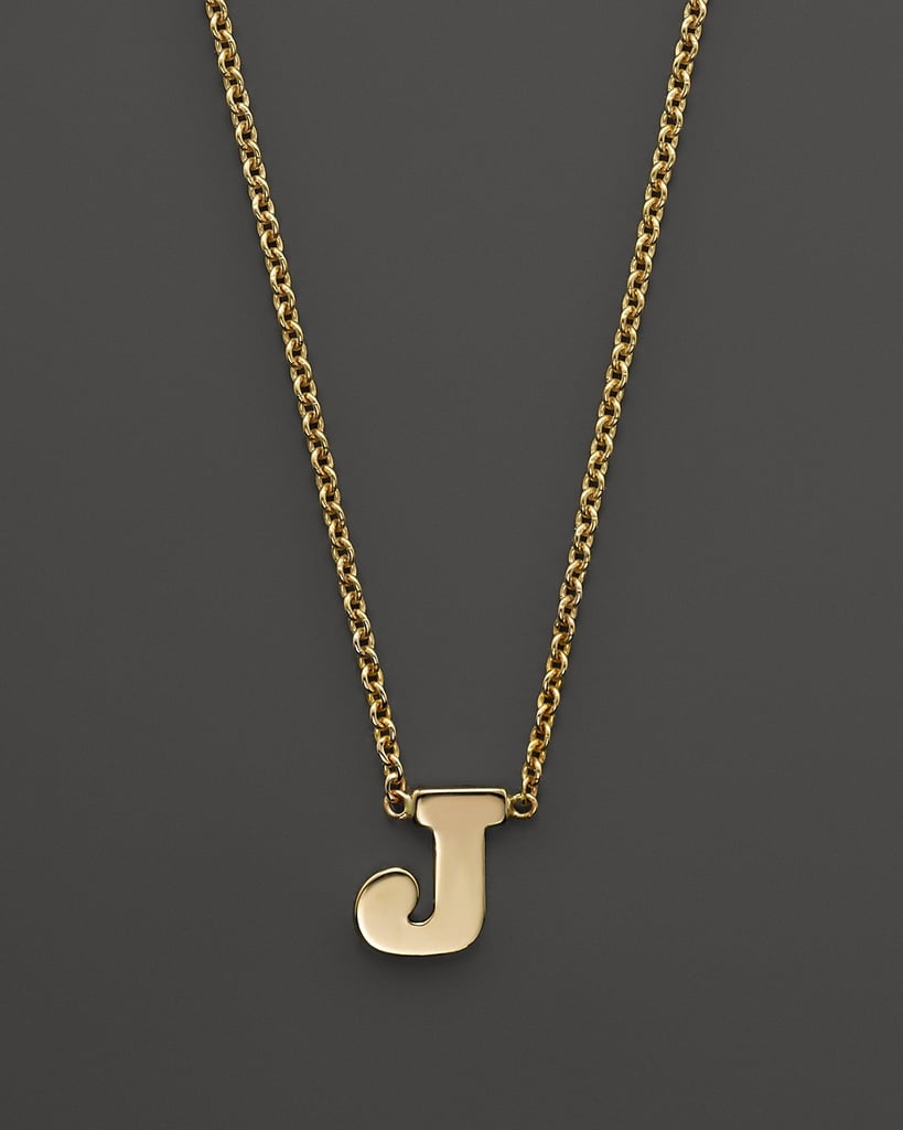 Zoe Chicco Initial Necklace