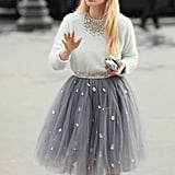 A most adorable way to play with tulle and rhinestone embellishments.