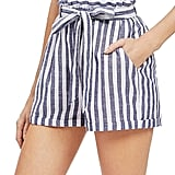 SweatyRocks Casual Elastic-Waist Striped Shorts