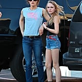 Vanessa Paradis and Lily-Rose Depp went to a Guitar Center in LA.
