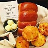 Bread basket (no, we're not kidding!) at Storytellers Cafe