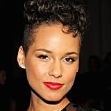 Alicia Keys at Jason Wu Spring 2014.