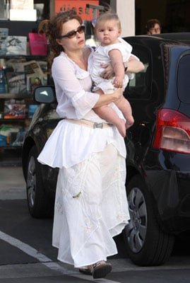Helena and Daughter Nell All Dressed in White