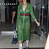 Rihanna, However, Opted to Skip That Little Extra and Went Fully Sheer