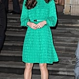 Kate wearing Mulberry in November 2012.