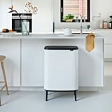 Large Brabantia Bo Touch Trash Can in White