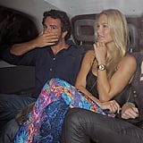 Bar Refaeli partied in London with friends.