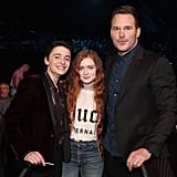 Noah Schnapp, Sadie Sink, and Chris Pratt