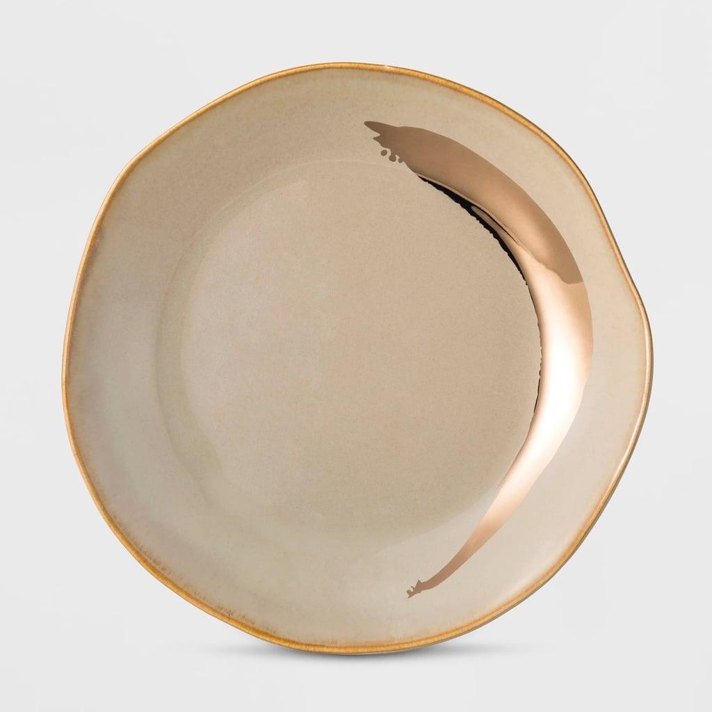 Cravings by Chrissy Teigen Gold Stoneware Dessert Plate