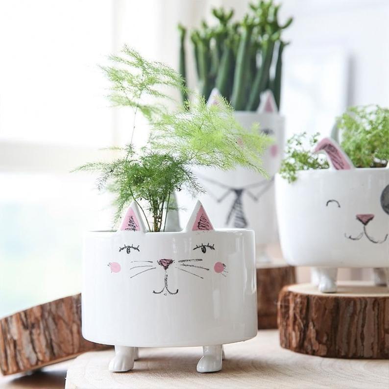 Animal Succulent Pots Cat Planter Pot Dog Animal Planter
