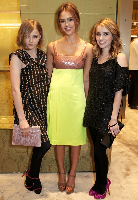 Pictures of Lily Allen and Jessica Alba