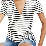 Madewell Short Sleeve Wrap Top
