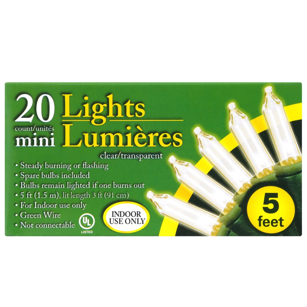20-Bulb Indoor Clear Christmas Light Sets ($1 per pack)
