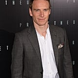 Michael Fassbender looking dapper at the Prometheus premiere in Paris.