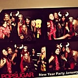 Getting our pose on at the POPSUGAR party.