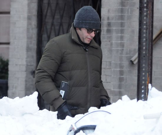 Slide Picture of Matthew Broderick in New York Snow