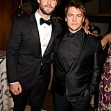 Pictured: Chris Hemsworth and Luke Hemsworth