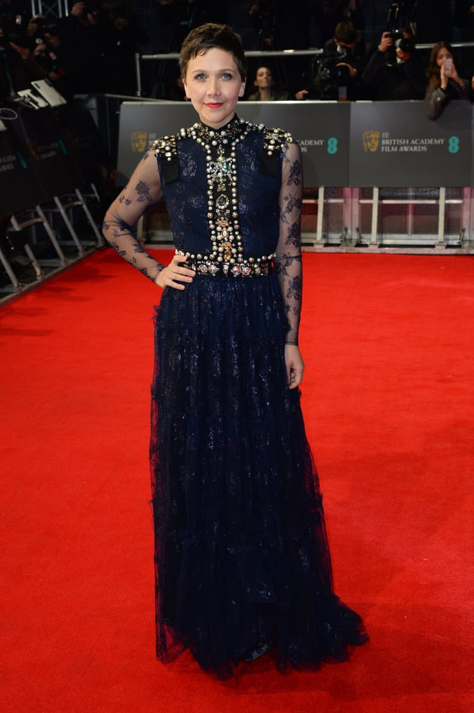 Maggie Gyllenhaal on the 2014 BAFTA Red Carpet