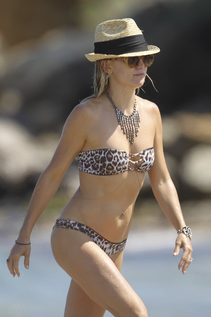 She hit the beach during a family vacation in Spain in June 2014.