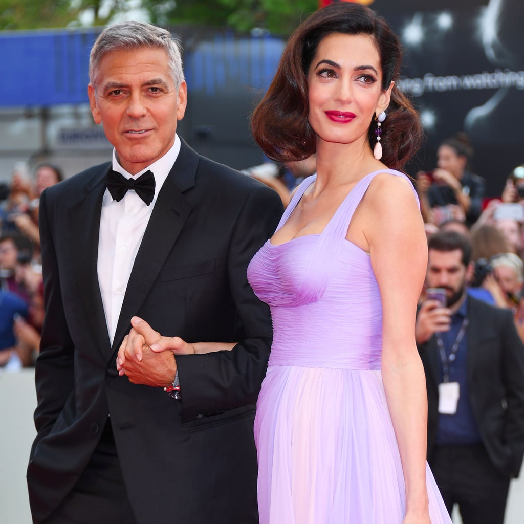 Amal Clooney Purple Dress Venice Film Festival