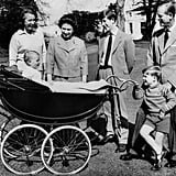 The queen and Prince Philip and their children, Princess Anne, Prince Charles, Prince Andrew, and Prince Edward, spent time at Frogmore House in 1965.