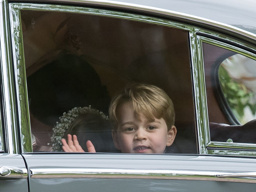 Who could resist that adorable dimple Prince George showed off as he arrived to Pippa Middleton's wedding in May?