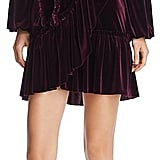 MISA Los Angeles Corrine Velvet Wrap Dress